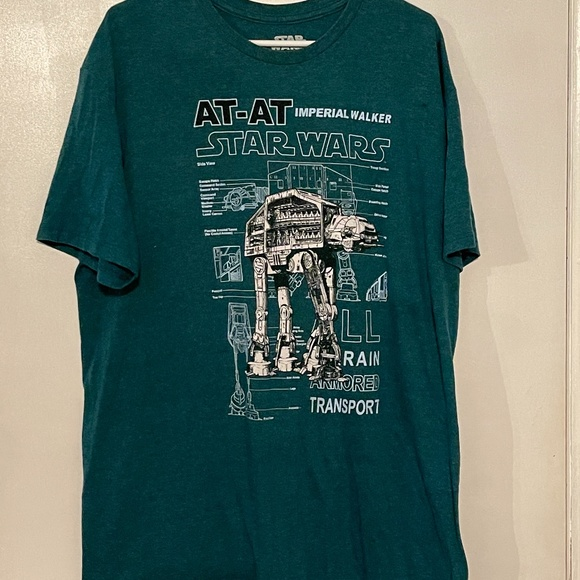 Star Wars At At Imperial Walker men's shirt XL